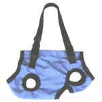 blue small dog carrier